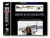 White Swiss Shepherd Dog Aron & Guadalupe White Apache