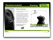 Twitterpated Flat Coated Retriever